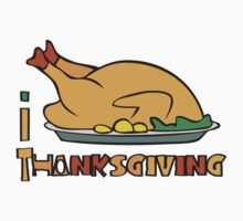 I LOVE THANKSGIVING T-shirt by ethnographics