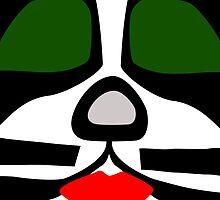 Peter Criss from KISS band, Catman makeup by escoffie