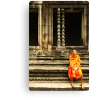 Monk at Angkor Canvas Print