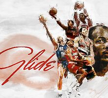 "Clyde ""The Glide"" Drexler by Philip Thompson"
