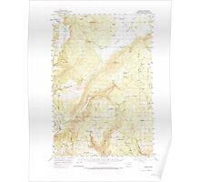 USGS Topo Map Washington State WA Husum 241634 1957 62500 Poster