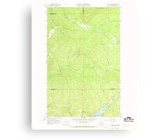 USGS Topo Map Washington State WA Aladdin Mtn 239766 1967 24000 Canvas Print