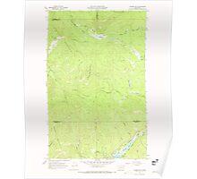USGS Topo Map Washington State WA Aladdin Mtn 239766 1967 24000 Poster