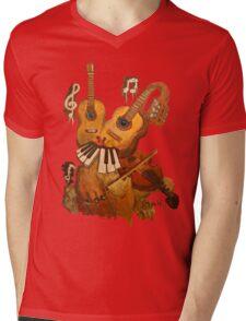 Musical Fantasy Bunny Mens V-Neck T-Shirt