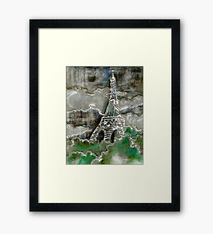 Eiffel Tower - Silver Framed Print