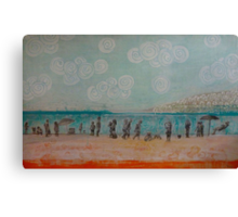 White Rock, Mixed media on board Canvas Print