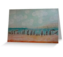 White Rock, Mixed media on board Greeting Card