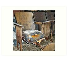 Theatre Seating at the Scranton Lace Factory Art Print