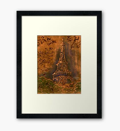 Eiffel Tower - Copper Framed Print