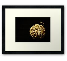 rubberband ball Framed Print