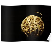 rubberband ball Poster