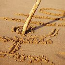 Writing in the sand by Renee Eppler