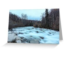 White as ice water Greeting Card
