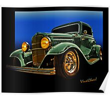 This 32 Ford Coupe Jumps Off The Page Poster