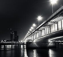 Under the Deutzer bridge by Markus Landsmann