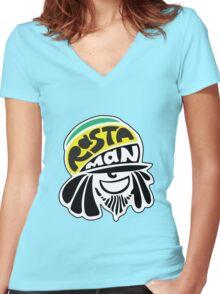 Rastaman Women's Fitted V-Neck T-Shirt
