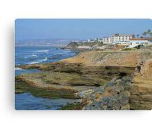 Sunset Cliffs California ~ Beautiful Homes Canvas Print