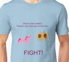 Invisible Pink Unicorn vs Flying Spaghetti Monster Unisex T-Shirt