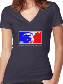 Major League Hunting Women's Fitted V-Neck T-Shirt
