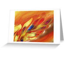 Vibrant Sensation Vivid Abstract V Greeting Card
