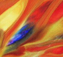 Vibrant Sensation Vivid Abstract V Sticker