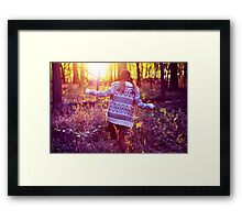 Into the light... Framed Print