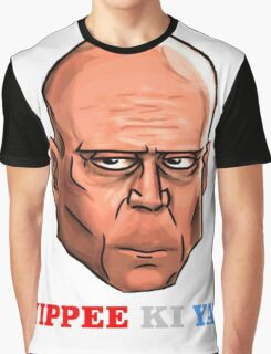YIPPEE KI YAY- BRUCE WILLIS DIE HARD- (Specially Detailed) Graphic T-Shirt