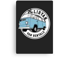 Back to the Future 'Libyan Van Rentals' Logo Canvas Print