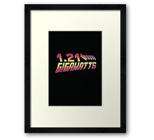 Back to the Future 1.21 Gigawatts Framed Print