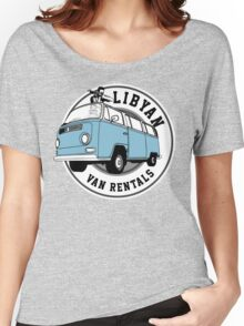 Back to the Future 'Libyan Van Rentals' Logo Women's Relaxed Fit T-Shirt