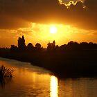 Sunset Bloemendaal polder near Gouda by hanslittel