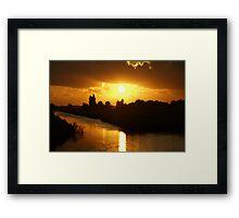 Sunset Bloemendaal polder near Gouda Framed Print