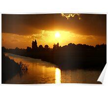Sunset Bloemendaal polder near Gouda Poster