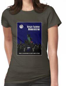 Visit Manhattan Womens Fitted T-Shirt