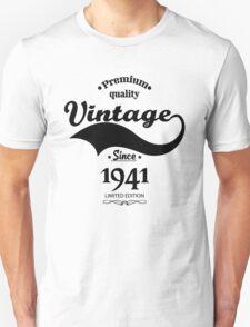 Premium Quality Vintage Since 1941 Limited Edition Unisex T-Shirt