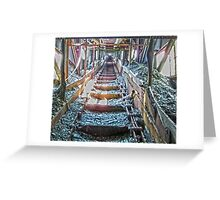 Up The Coal Chute Greeting Card