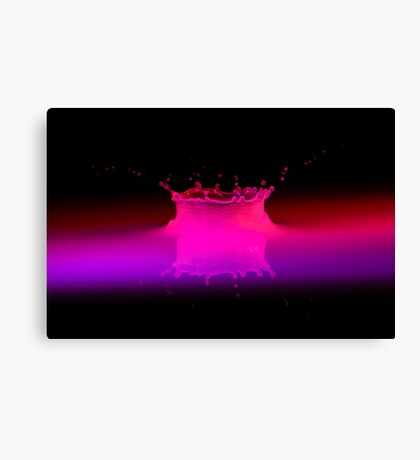 Neon Crown Canvas Print