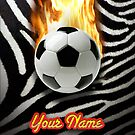 Soccer Ball Zebra (Customizable) - iPhone Case by Christopher Herrfurth
