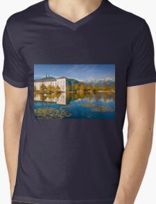 Stift Admont in autumn Mens V-Neck T-Shirt