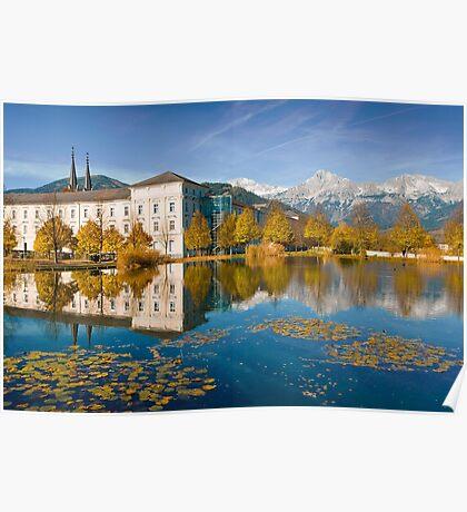 Stift Admont in autumn Poster