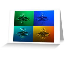 Fluid Montage Greeting Card