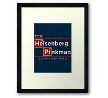 The one who votes Framed Print