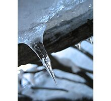 A Lone Icicle Photographic Print