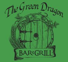The Hobbit Green Dragon Bar & Grill Shirt Kids Tee