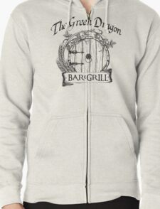 The Hobbit Green Dragon Bar & Grill Shirt Zipped Hoodie