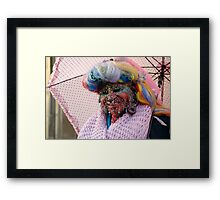Pierced and colourful Framed Print