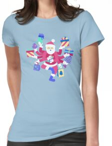 Dancing Pastel Shiva Claus Womens Fitted T-Shirt