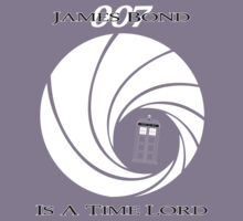 James Bond: Time Lord (dark version) Kids Tee