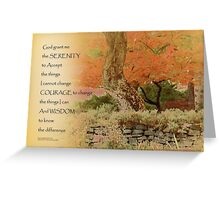 Serenity Prayer Autumn Harmony Greeting Card