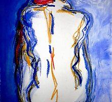 """Blue Nude by Belinda """"BillyLee"""" NYE (Printmaker)"""